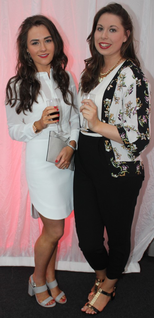 At the Rose Fashion show were, from left: Niamh Sheehy and Mari Woulfe. Photo by Gavin O'Connor.