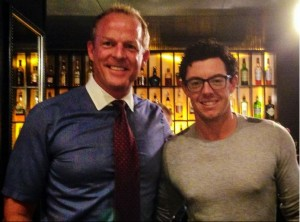 Sean O'Sullivan with Rory McIlroy.