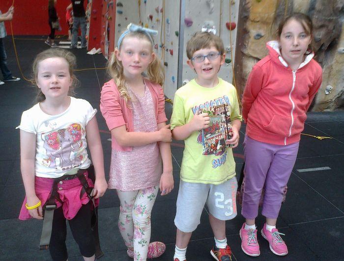 Nell Ní Mhuircheartaigh, Tamhlacht, Ellen agus Pádraig Ó Suilleabháin,  Bearrúin agus Lucy Ní Fhlatharta, An Spá who enjoyed a fantastic week of  activities and a trip to the Gaeltacht as part of the ÓGRAS Summer Camp at  Ballyheigue Community Centre.