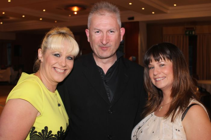 At the fundraiser and 40 birthday celebrations for Darren Mullery were, from left: