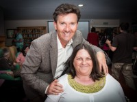 Daniel O'Donnell with fan Brenda Houlihan in Cuil Didin nursing home. Photo by Martin Houlihan.
