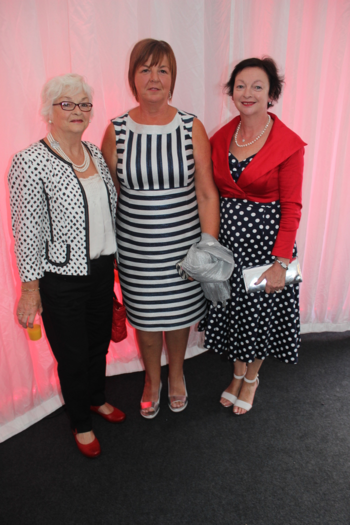 At the Rose fashion show on in the Dome, were from left: Nula Flanagan, Shiela Dillane, Liz O'Keefe. Photo by Gavin O'Connor.