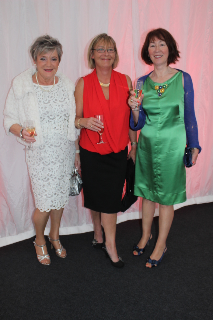At the Rose fashion show on in the Dome, were from left: Anne O'Dowd, Sharon Buckley and Sheila McMahon Buckley. Photo by Gavin O'Connor.