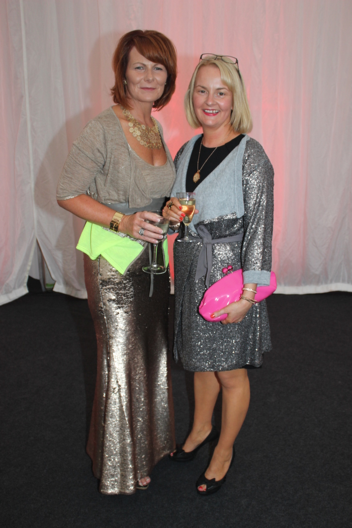 At the Rose Fashion on in the The Dome, were from left: Catriona Burke and Emer Harty. Photo by Gavin O'Connor