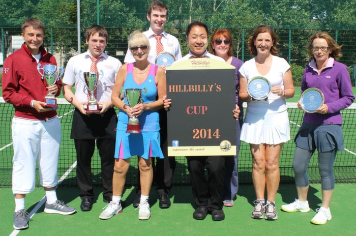 At the Hillbilly's Chicken Junior Senior Tournament were, from left: Jack Stack, Tomas Collins, Roberta Kneshaw, Eoin O'Sullivan, Chris Sun, Denise Brassil, Rosemary Broderick and Berna Waldron. Photo by Gavin O'Connor.