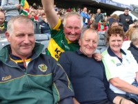 John Hamill, DJ O'Neill, Tom Houlihan and Evelyn Houlihan, Ballyduff, in Croke Park for the game on Sunday. Photo by Dermot Crean