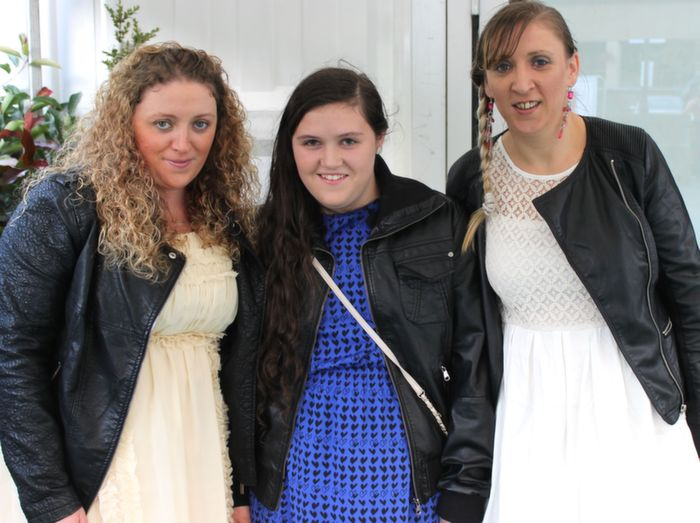 Siobhan Murphy, Cheala Murphy and Eithne Murphy, Castleisland and Gneeveguilla, who went to the Nathan Carter concert at the Dome on Thursday night. Photo by Dermot Crean