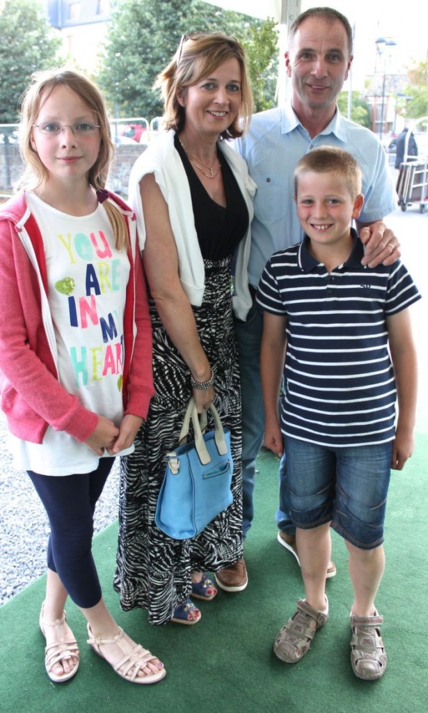 Eamon and Mary Kelly with children Daniel and Laura from Westport, who went to the Nathan Carter concert at the Dome on Thursday night. Photo by Dermot Crean