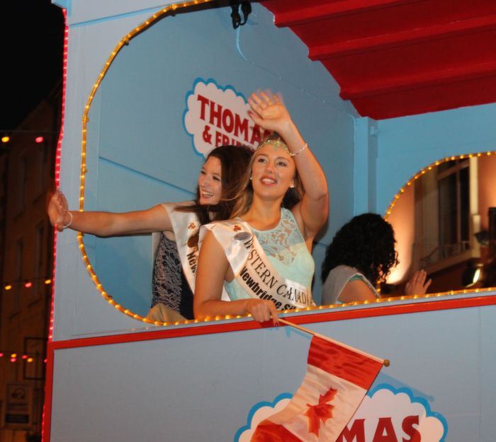 Western Canada Rose Catherine Joyce  at the Rose Parade on Saturday night. Photo by Dermot Crean