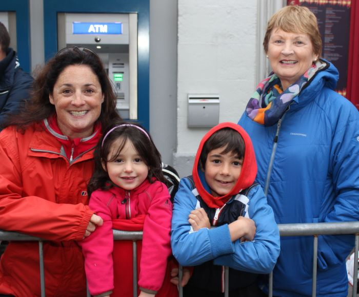Marlene, Marie and Josh Favaudon with Marie Sheehan, Tralee, at the Rose Parade on Saturday night. Photo by Dermot Crean
