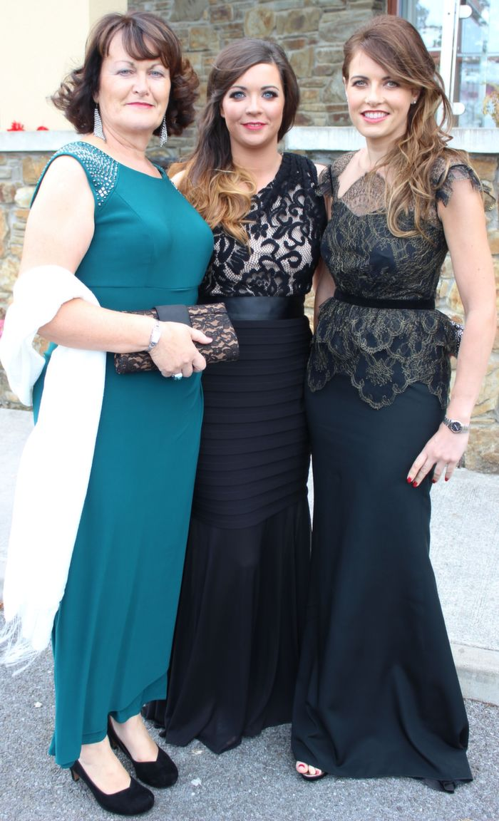 Bernie Falvey, Salome McDonnell and Ellen Wallace, at the Rose Ball in the Dome on Friday night. Photo by Dermot Crean