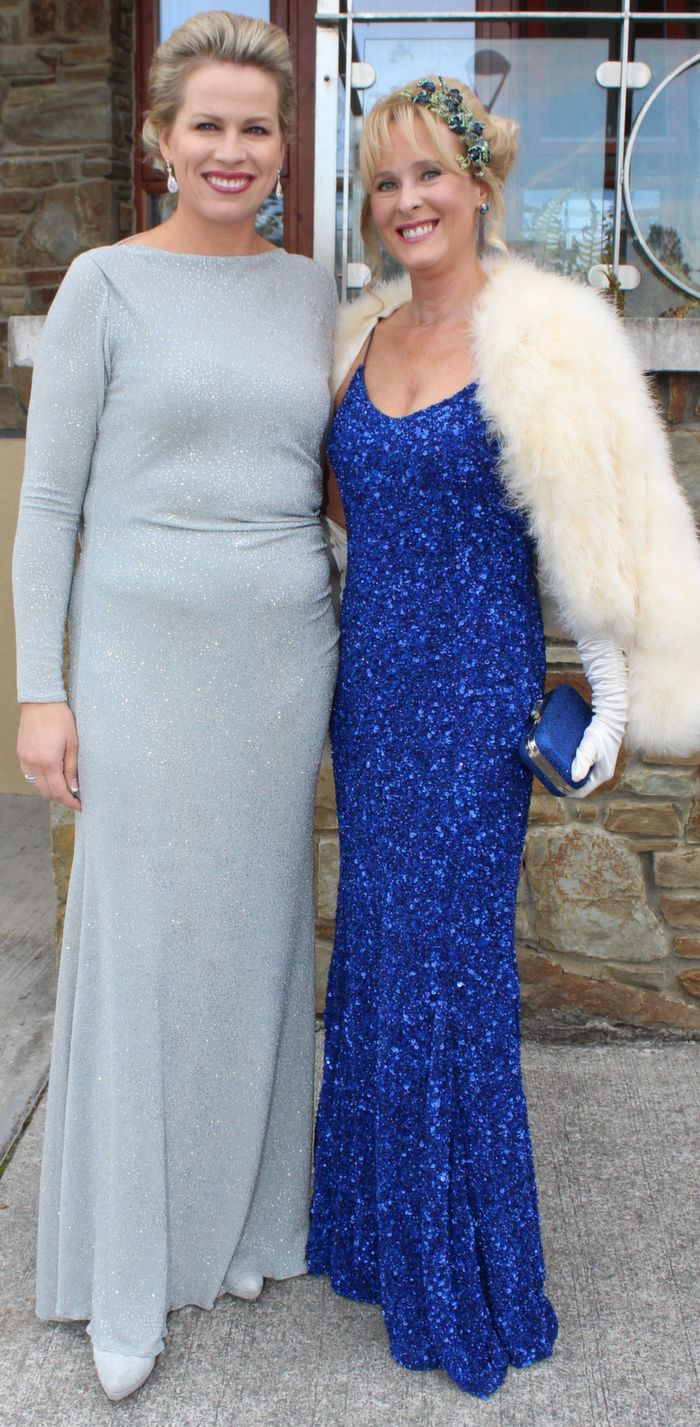Diane Jeffers of Jasmine Boutique, Tralee and Killarney and Claire Murphy, Banna, attending the Rose Ball in the Dome on Friday night. Photo by Dermot Crean