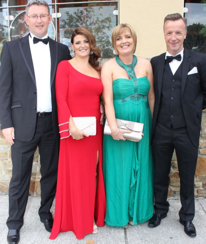 Benny and Claire Murphy with Shirley and Matt Moloney at the Rose Ball in the Dome on Friday night. Photo by Dermot Crean