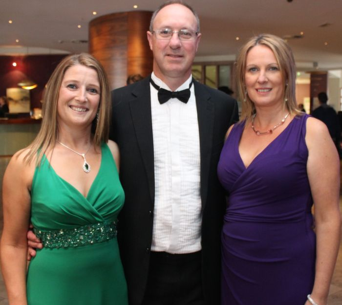 Catherine Tobin with Kevin and Bernie Boyle who attended the Rose Ball in the Dome on Friday night. Photo by Dermot Crean