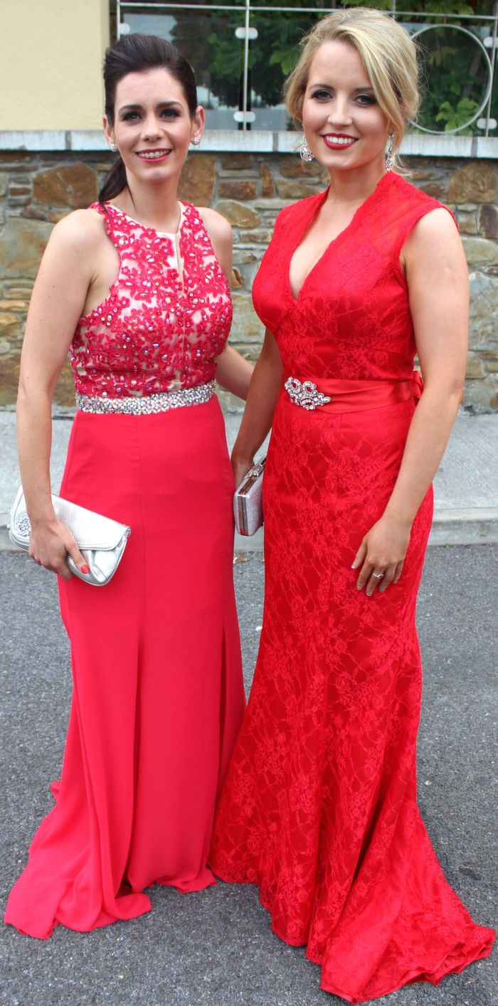 Catherine McCarthy and Caoimhe Scannell of Outlook Magazines at the Rose Ball in the Dome on Friday night. Photo by Dermot Crean