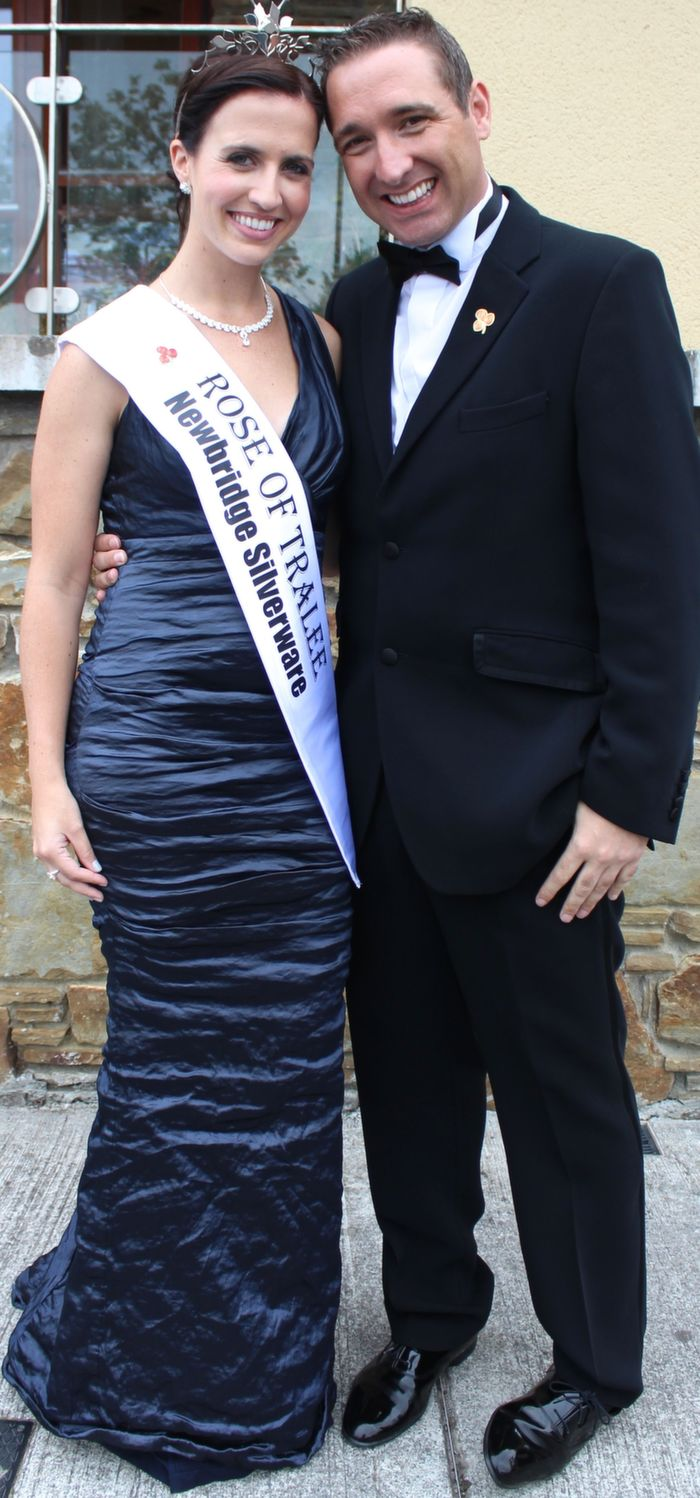 Rose of Tralee Haley O'Sullivan with David Devlin at the Rose Ball in the Dome on Friday night. Photo by Dermot Crean