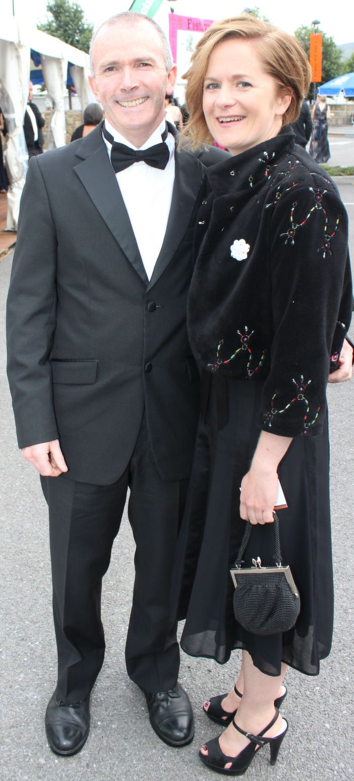 Tom Brick and Donna O'Shea at the Rose Ball in the Dome on Friday night. Photo by Dermot Crean