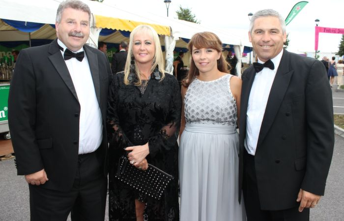 Sean and Ann Healy with Siobhan and Stephen Stack at the Rose Ball in the Dome on Friday night. Photo by Dermot Crean