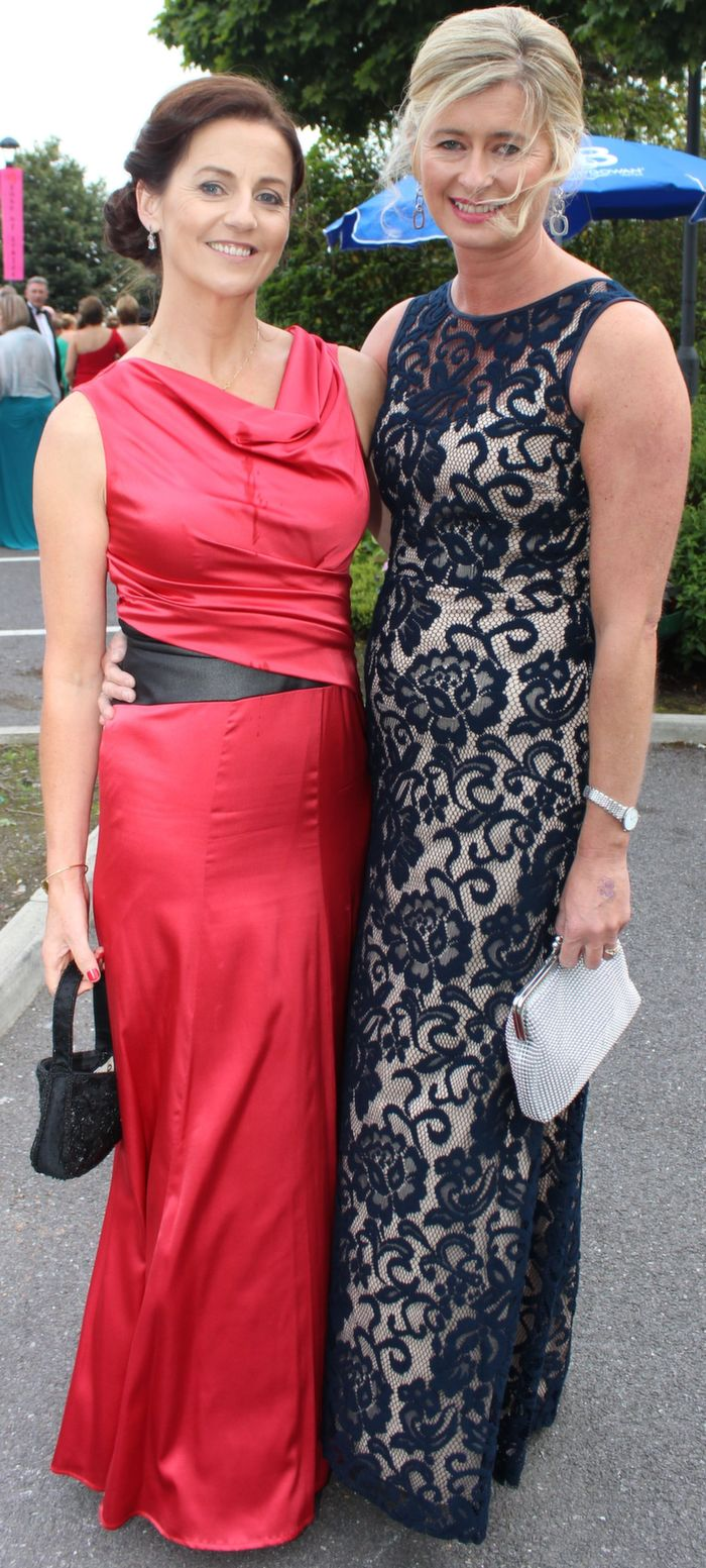 Una Lunch and Caroline Sugrue at the Rose Ball in The Dome on Friday night. Photo by Dermot Crean