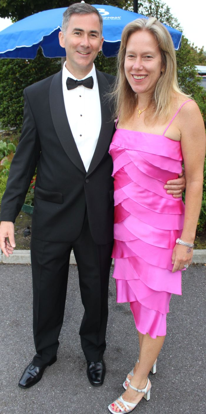 Gary and Katie Barrett, Boston, at the Rose Ball in The Dome on Friday night. Photo by Dermot Crean