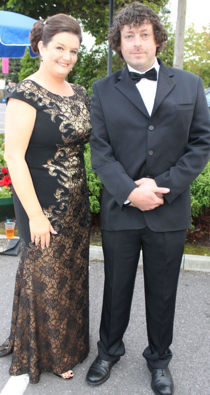 Marisa Reidy and Declan O'Connell at the Rose Ball in The Dome on Friday night. Photo by Dermot Crean
