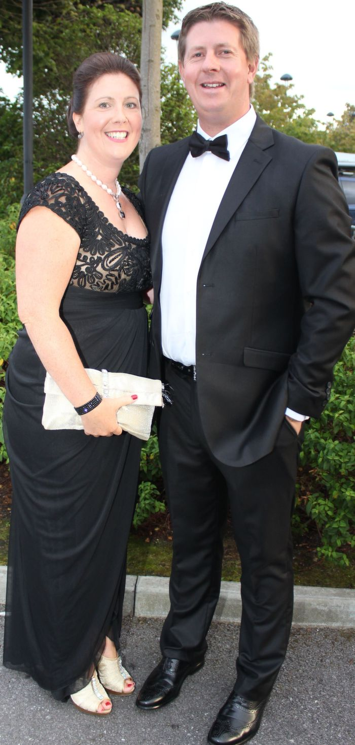Jacinta and Joe Walsh, Tralee, at the Rose Ball in The Dome on Friday night. Photo by Dermot Crean
