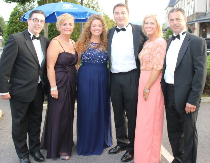 Sean and Edel Fitzgerald, Olga and Ronan Enright and Rachel and Greg O'Keeffe at the Rose Ball in The Dome on Friday night. Photo by Dermot Crean