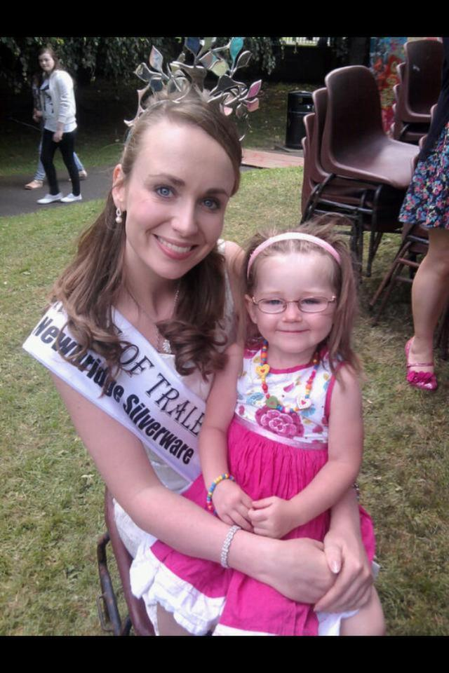 And here's Louise's sister, Erin O'Sullivan, with the 2009 Rose, Charmaine Kenny. Photo sent in by mom, Caroline.