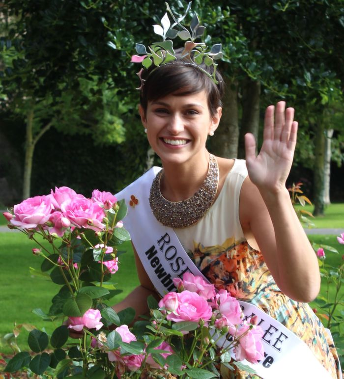 Rose of Tralee 2014, Maria Walsh, in the Rose Garden in the Town Park on Wednesday morning. Photo by Dermot Crean