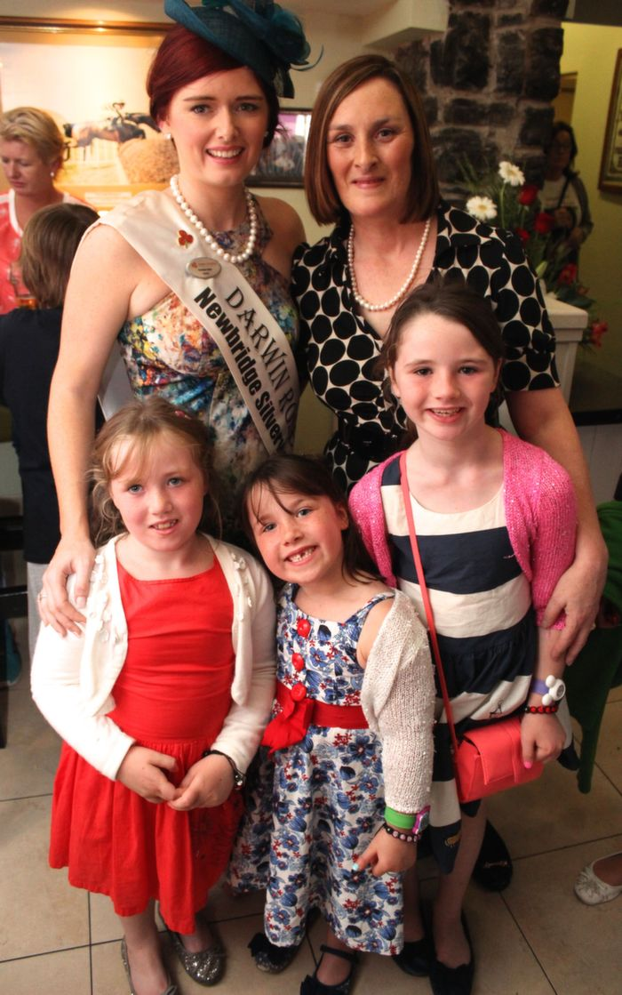 The Darwin Rose, Natalie Kelly with Fiona Kirby and her daughters Sadhbh, Eimear and Caoimhe Cotter at the Rose Signings in The Brogue Inn on  Saturday. Photo by Dermot Crean