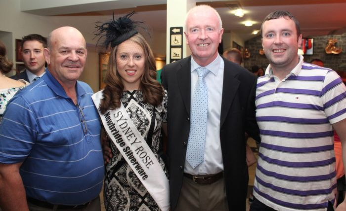 Tom O'Keeffe, Gneeveguilla and Sydney with Sydney Rose Imelda Finnegan, Mike Culloty and Liam Culloty at the Rose Signings in The Brogue Inn on  Saturday. Photo by Dermot Crean