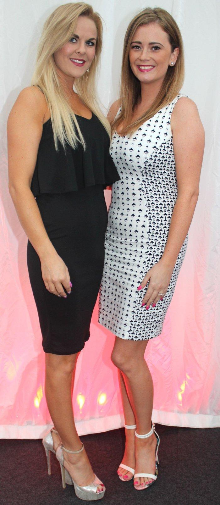 Dawn Jnr O'Sullivan and Aisling O'Sullivan at the Rose Fashion Show on Sunday night. Photo by Gavin O'Connor