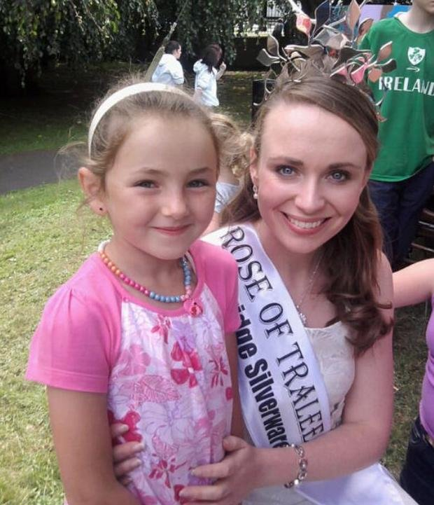 Little Louise O'Sullivan got to meet the 2009 Rose of Tralee, Charmaine Kenny, back then. Photo sent in by Louise's mom, Caroline.