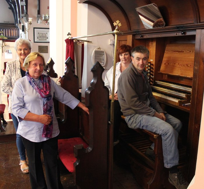 Mona Butler, Archdeacon Susan Watterson, Susan Keating and Niall Groves looking forward to the recitals this weekend by acclaimed organist, Glen Moore. Photo by Dermot Crean