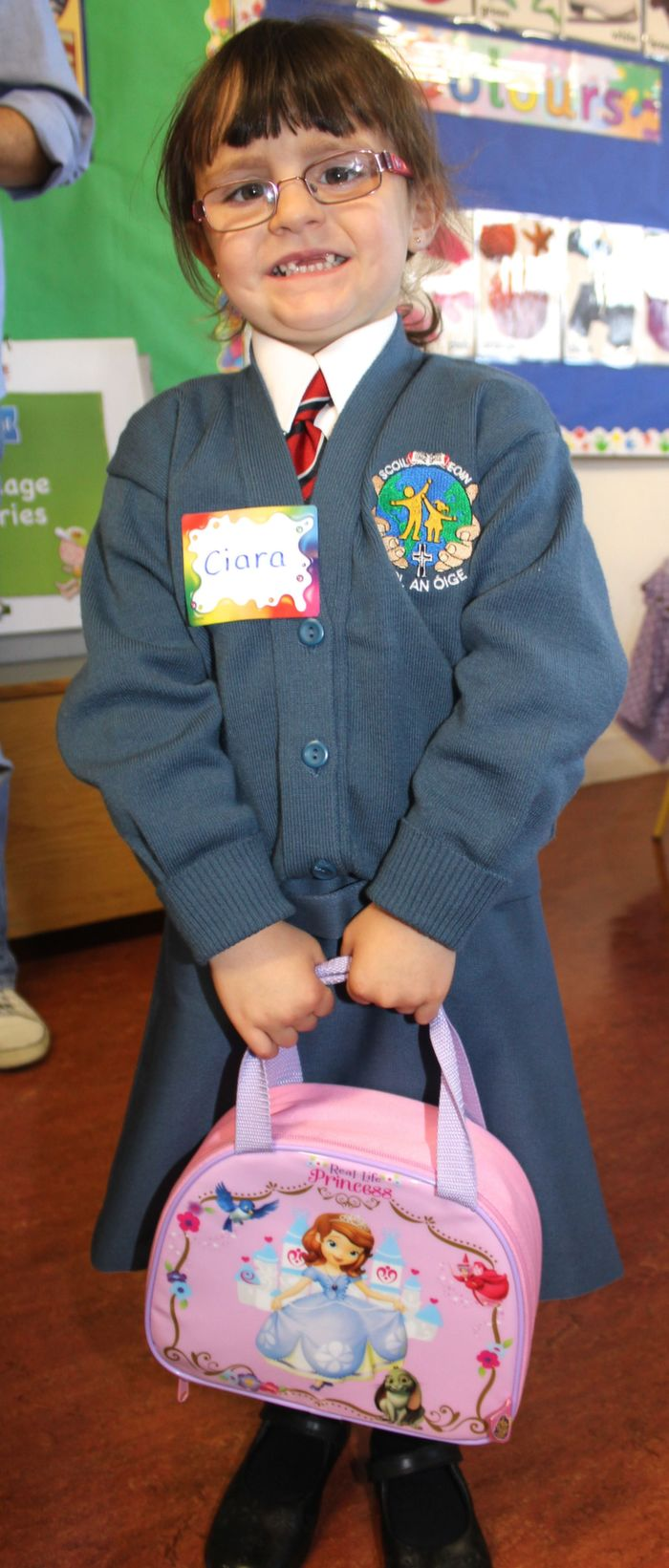 Starting her first day of school in Scoil Eoin was Ciara O'Shea. Photo by Gavin O'Connor.