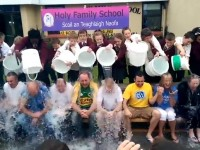 VIDEO: Pupils Give A Soaking To Holy Family Teachers