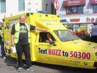 The Bumbleance In town during the Summer. Photo by Gavin O'Connor.