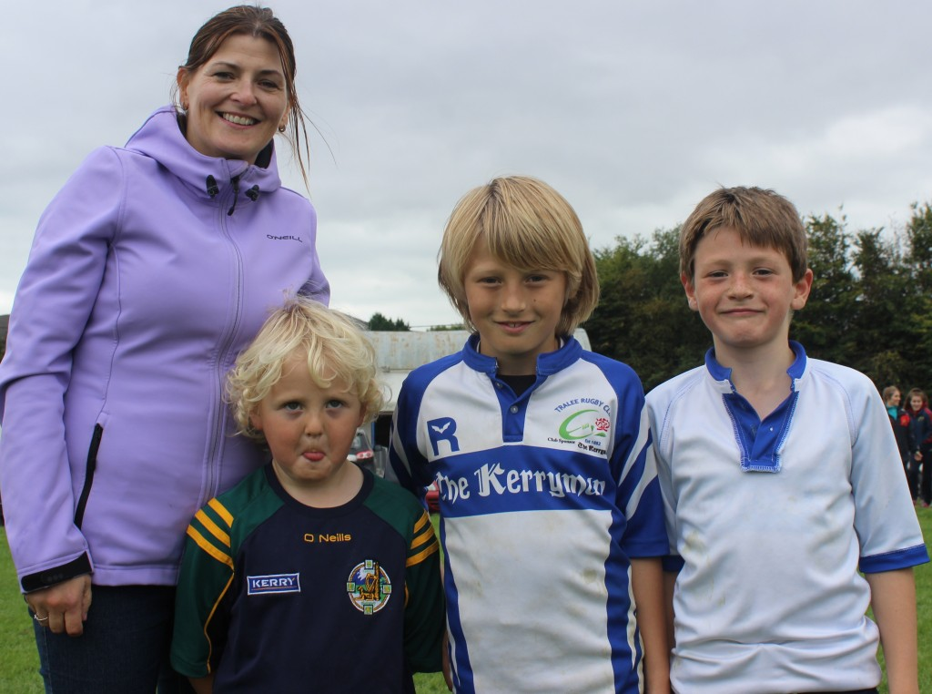 Enjoying the family day at Tralee Rugby Club family fun day were, from left:  Claire, Harry, Ben and Jack Murphy. Photo by Gavin O'Connor.