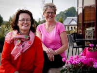 Bernie Falvey and Mary O'Sullivan at last years 'Splash of Pink' event in aid of the Irish Cancer Society held in Ballyseedy Home and Gardens.