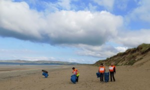 A group cleaning up Banna Strand in 2014.