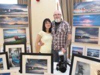 Carol and Keith McGlynn, Tralee, at the Kerry Landscapes Photography Exhibition at the Fels Point Hotel on Sunday. Photo by Dermot Crean