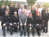 Legend Micheál Speaks To Gaelcholáiste Students About Importance Of Irish