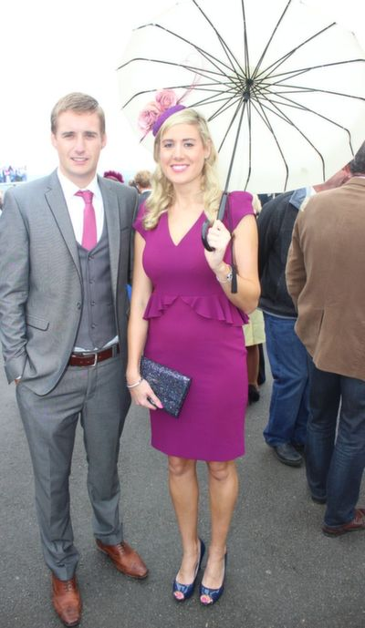 Conleth McMahon and Martina McMahon, Beale, enjoying Ladies Day at Listowel Races on Friday. Photo by Dermot Crean