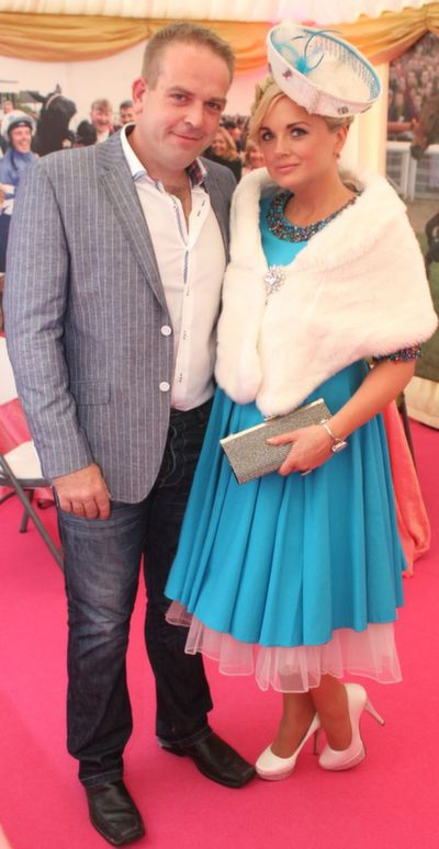 Stylish couple Anthony McCarthy and Sharon Heffernan, enjoying Ladies Day at Listowel Races on Friday. Photo by Dermot Crean