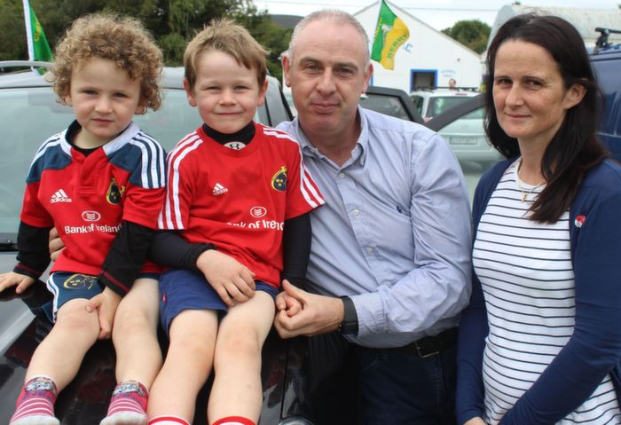 Enjoying the family day at Tralee Rugby Club family fun day were, from left: Conor, Brian, Gerard and Fiona Reidy. Photo by Gavin O'Connor.
