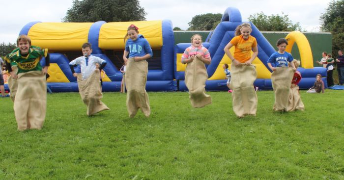 A Hotly contested sack race at the Tralee Rugby Club family fun day. Photo by Gavin O'Connor.