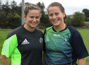 Members of Tralee Rugby Club and Sisters Laura and Emer O'Mahony played on opposite teams in the Inter-Pro final between Munster and Connacht on in Tralee Rugby Club. Photo by Gavin O'Connor.