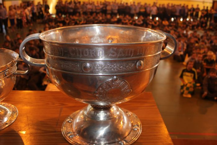 Sam Maguire in The Green C.B.S on Friday. Photo by Gavin O'Connor.