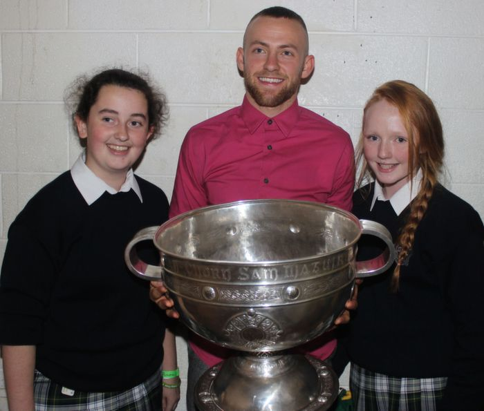 Fans with Barry John Keane and Sam Maguire. Photo by Gavin O'Connor.