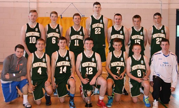 The Mercy Mounthawk U19 basketball team that won the Mercy Mounthawk Invitational Basketball tournament at the weekend, front row, from left: